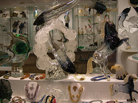 Glass making art in venice