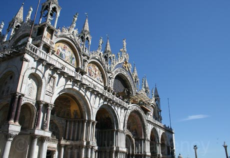 San marco church in venice side view