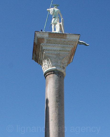 San marco square monument in venice